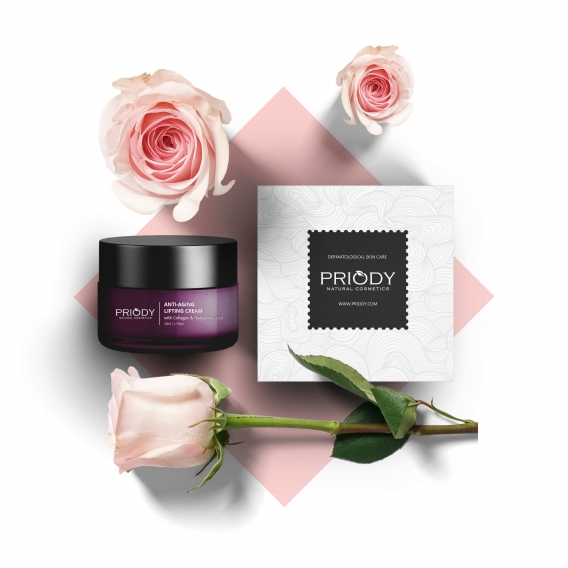 PRIODY   Anti-aging lifting cream with Collagen & Hyaluronic acid